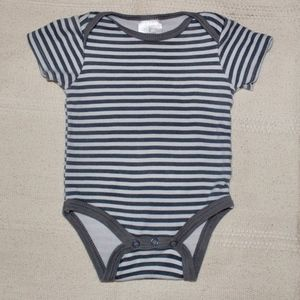 *3 FOR 15* Baby Gear Gray Striped Onsie